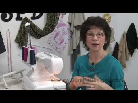 How to: Cover Stitch Machine Tips & Techniques - YouTube  This is the best tutorial I've found so far.