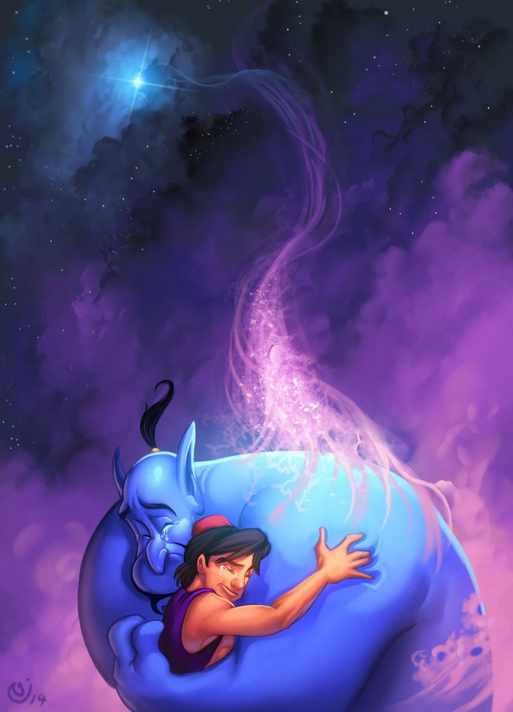 Tribute to Robin Williams by BoOoM... Robin and Genie... great man, great character. He will be missed.