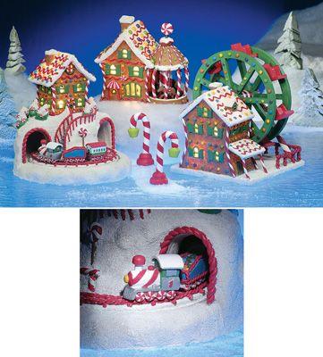 Amusement park gingerbread candy village collectibles for Amusement park decoration ideas