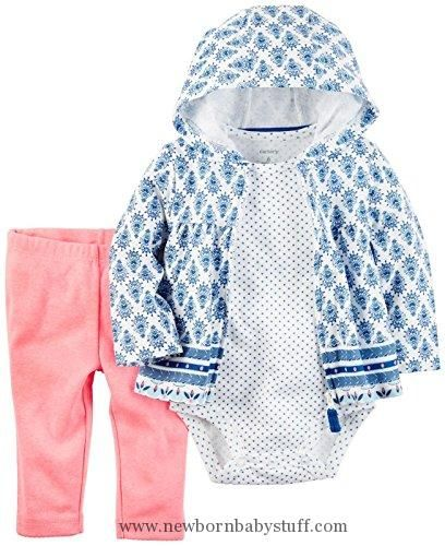 Baby Girl Clothes Carter's Carter's Baby Girls Cardigan Sets 121h259, White, 24M