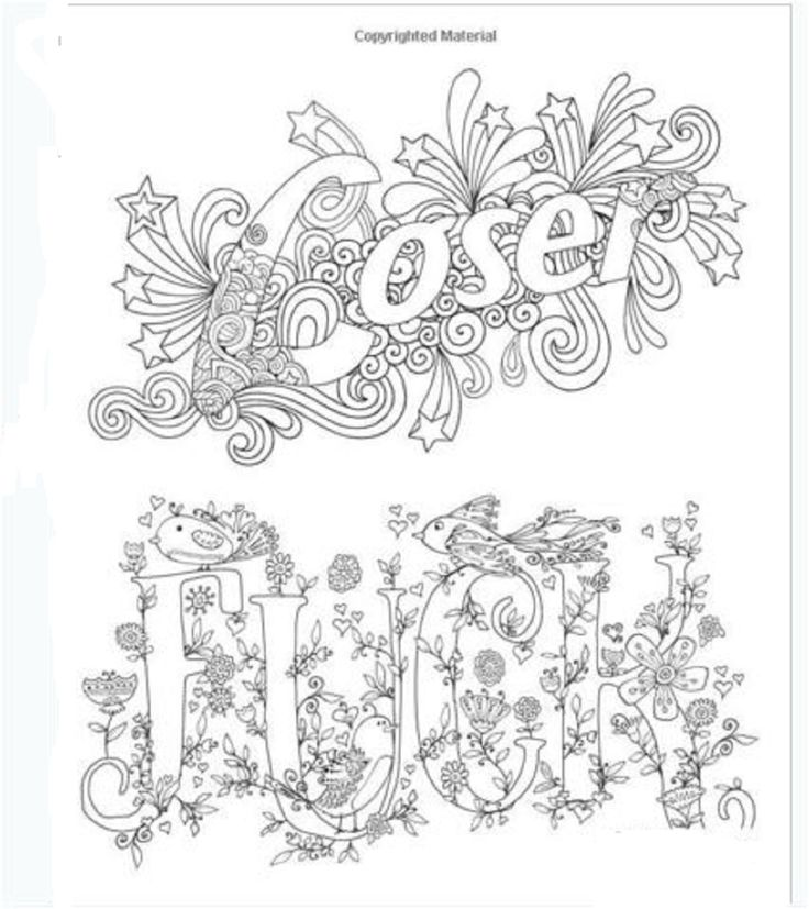 Coloring Book For Adults Swear Words Patterns Stress