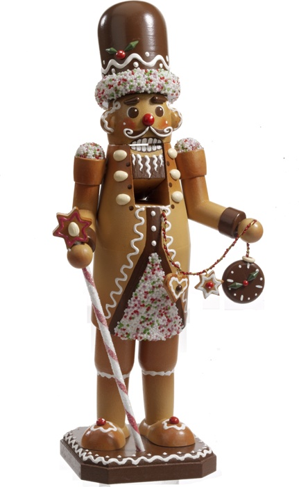 """Ginger Bread Man, Nutcracker Nutcracker from the """"Christmas Workshop"""" of Rothenburg. Of real wood and hand painted."""