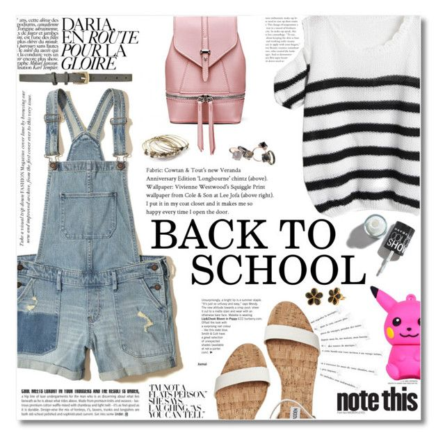 """Senza titolo #2099"" by aanyaa ❤ liked on Polyvore featuring Hollister Co., Katie, NOLAN, Made Her Think and BackToSchool"