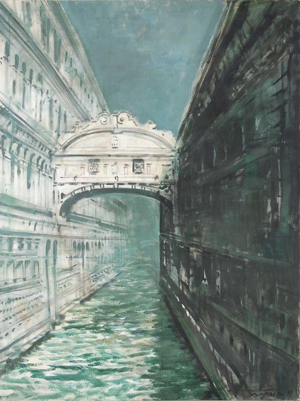 Rómulo Macció | Puente de los suspiros | 1998 | Acrílico sobre tela | 200 x 170 cm