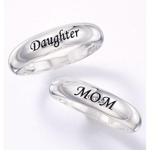 """Say it with sterling silver. The perfect gift for Moms and Daughters. Select band engraved with """"Daughter"""" or """"Mom"""".STERLING SILVER is the standard for fine silver jewelry in the world over. Only Sterling Silver can be stamped with a  fineness mark of .925 indicating its high quality.Avon will donate 20% of net profts to the Avon #BreastCancer Crusade with each purchase.**Up to $1 million."""