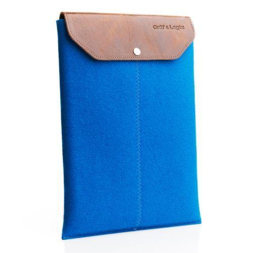 "Graf & Lantz Laptop Sleeve fits 13"" & 15"" in Cobalt $60 #laptopsleeve #laptopcase #felt #leather #tech #accessories"
