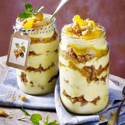 Sahne-Joghurt-Aprikosen-Dessert Rezept | LECKER