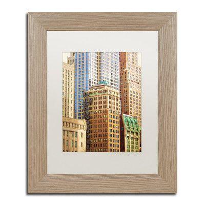 Trademark Art 'Painterly Manhattan' by Adam Kadmos Framed Painting Print Size: