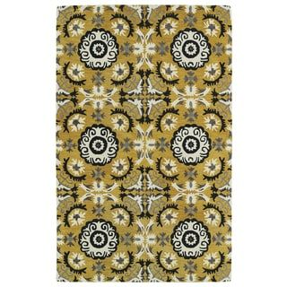 Shop for Hand-tufted de Leon Yellow Rug (9' x 12'). Get free shipping at Overstock.com - Your Online Home Decor Outlet Store! Get 5% in rewards with Club O! - 16689768