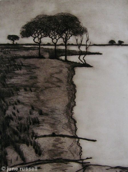 Shoreline - Drypoint etching                                                                                                                                                      More