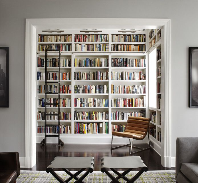 Love The Idea Of Turning A Potentially Awkward Bonus Room Into Reading Library With LADDER By Lichten Craig