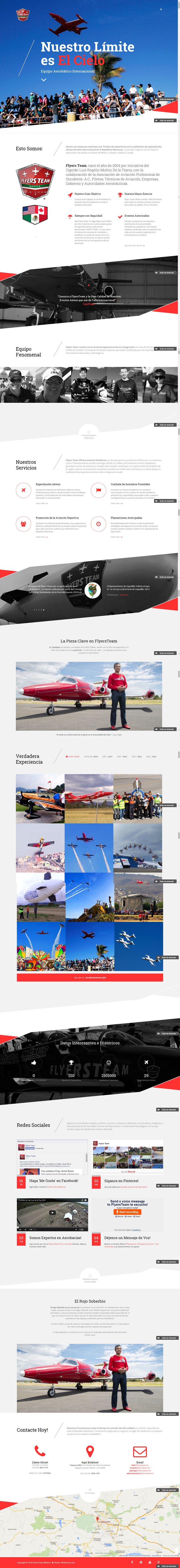 www.Flyersteam.mx ~ 2014 / Flyers Team es un equipo de acróbatas aéreos nacionales y extranjeros expertos certificados por las autoridades aeronáuticas. Una empresa mexicana con más de 10 años de experiencia en la realización de espectáculos aéreos de talla internacional, única en su tipo en la República Mexicana.