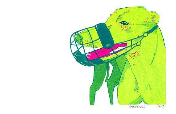 Neon Greyhound Painting