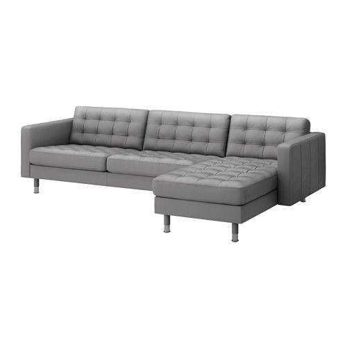LANDSKRONA Sofa and chaise - Grann/Bomstad gray, metal - IKEA, $1399