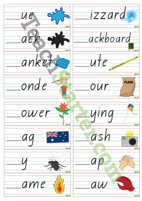 Initial L Blend Cards - Interactive | Teaching Resources - Teach Starter