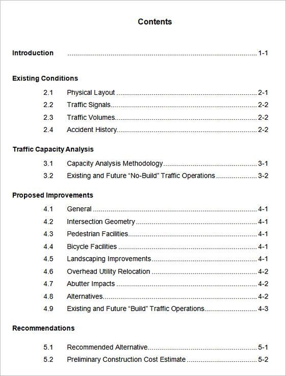 20  table of contents template