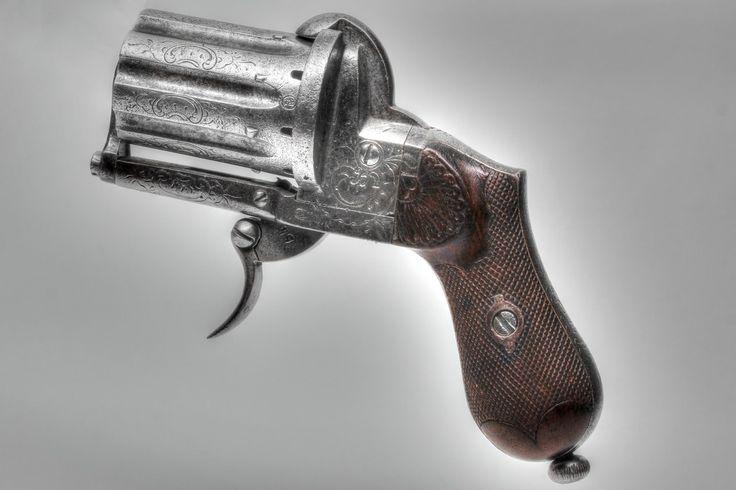 Belgian 7mm pinfire Pepperbox pistol