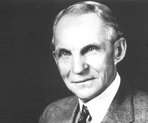 """Henry Ford Improved the """"assembly line"""" for automobile manufacturing, received a patent for a transmission mechanism, and popularized the gas-powered car with the Model-T."""