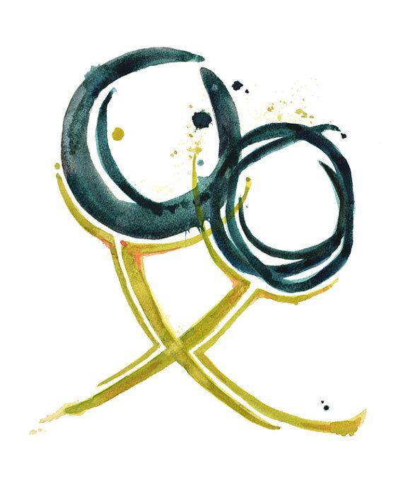 Quiasma óptico Print ojo abstracto acuarela Optometría