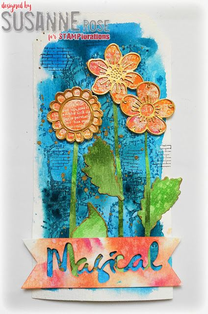 Susanne Rose Designs: Stamped Watercolor Tag with STAMPlorations