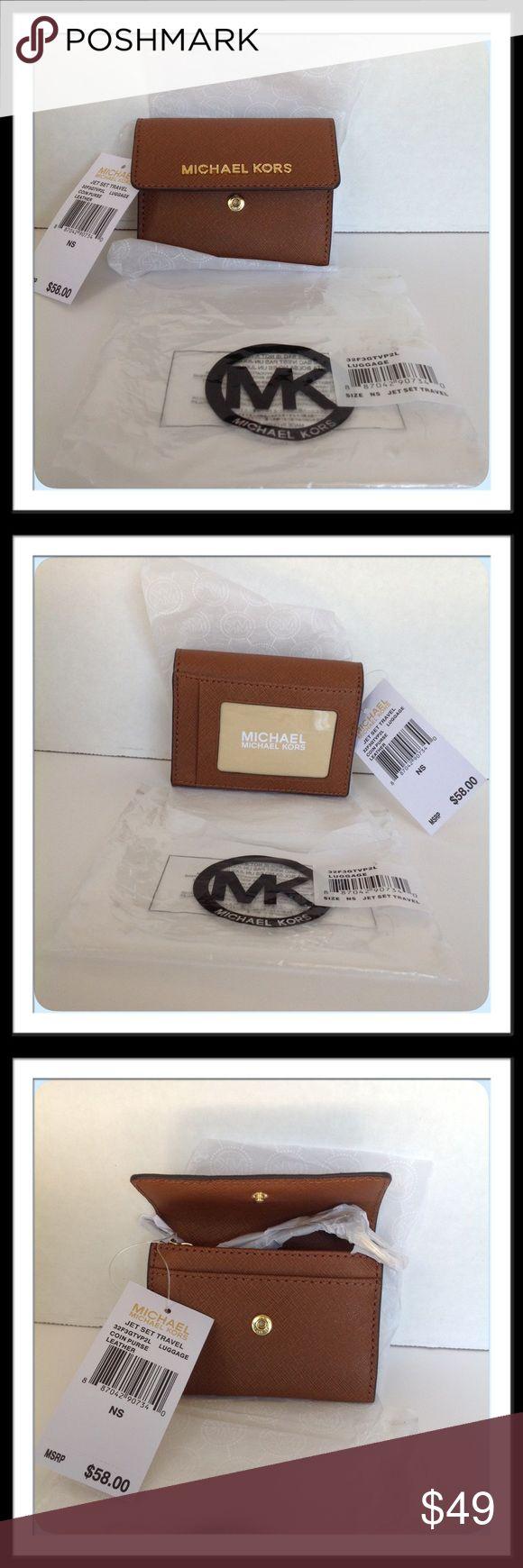 Spotted while shopping on Poshmark: MICHAEL Michael Kors Jet Set Leather Coin Purse! #poshmark #fashion #shopping #style #MICHAEL Michael Kors #Handbags