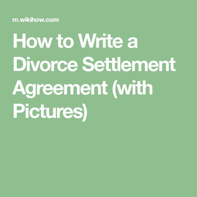 The  Best Divorce Settlement Agreement Ideas On