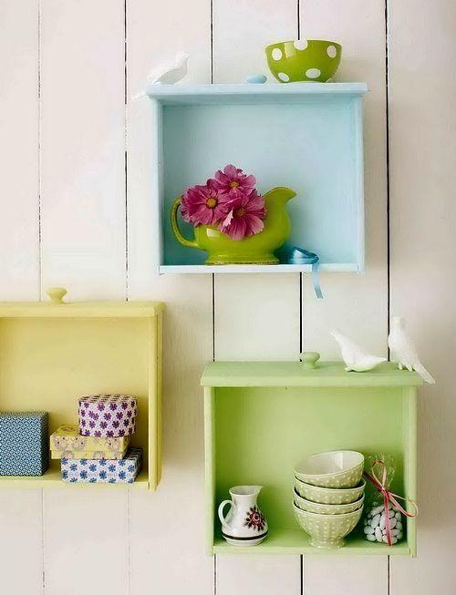 Idées de recyclage d'un vieux tiroir                                                                                                                                                                                 Plus