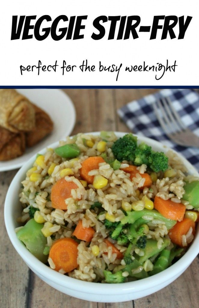Veggie Stir-Fry A perfect dish for the busy weeknights! Click through for the recipe.. Sisters Shopping on a Shoestring