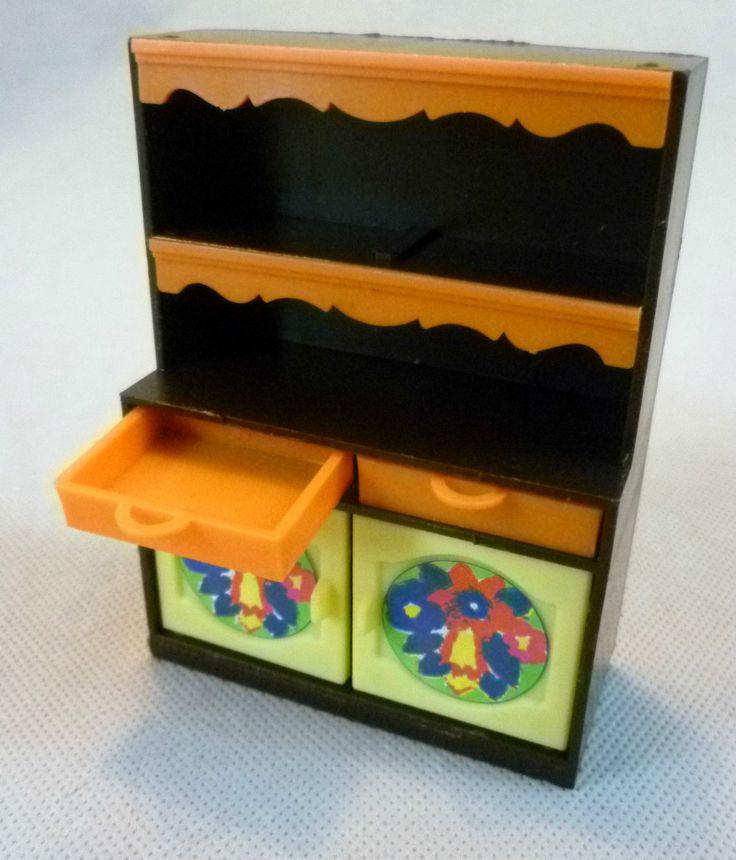 Vintage Dolls House -Toy Works/Modella My First Home Kitchen Furniture W Germany | eBay