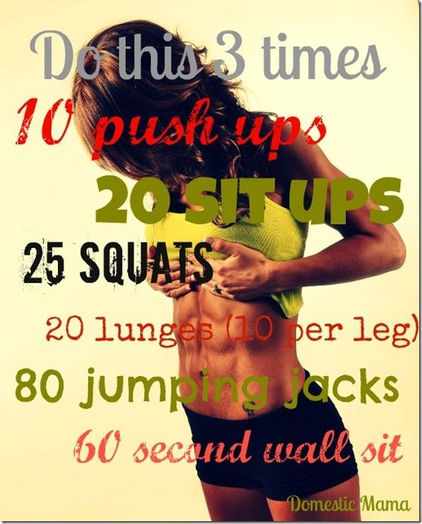 this is great for thighs and legs. the 80 jumping jacks were a little much for me, so i opted for 40, but the rest is a good way to get your heart pumping. just be sure to stretch immediately after and also before so you don't get sore.