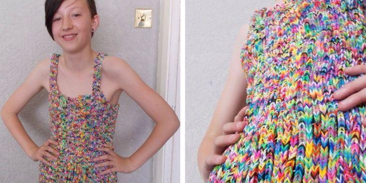 Cette robe en Rainbow Loom coûte plus cher que votre voiture {AP: Mode}