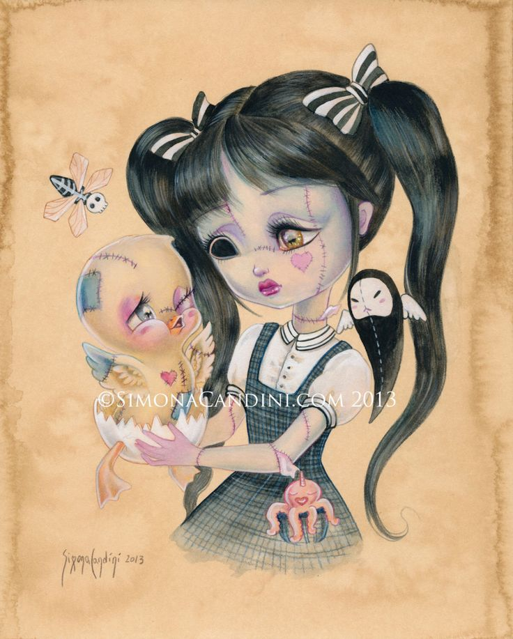 Are You My Mommy? LIMITED EDITION print signed numbered Simona Candini Broken Dolls Don't Cry  lowbrow pop surreal big eyes art elephant by SimonaCandini on Etsy https://www.etsy.com/listing/171898350/are-you-my-mommy-limited-edition-print