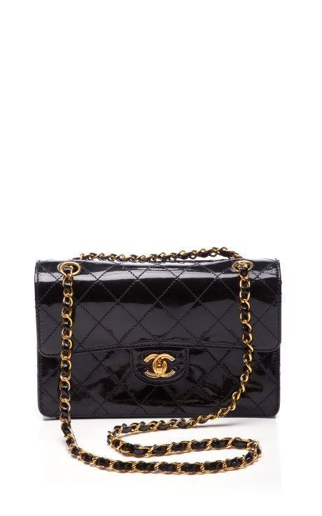 1e83ec304daf Chanel Black Patent 2.55 Bag by Vintage Chanel for Preorder on Moda  Operandi on Wanelo