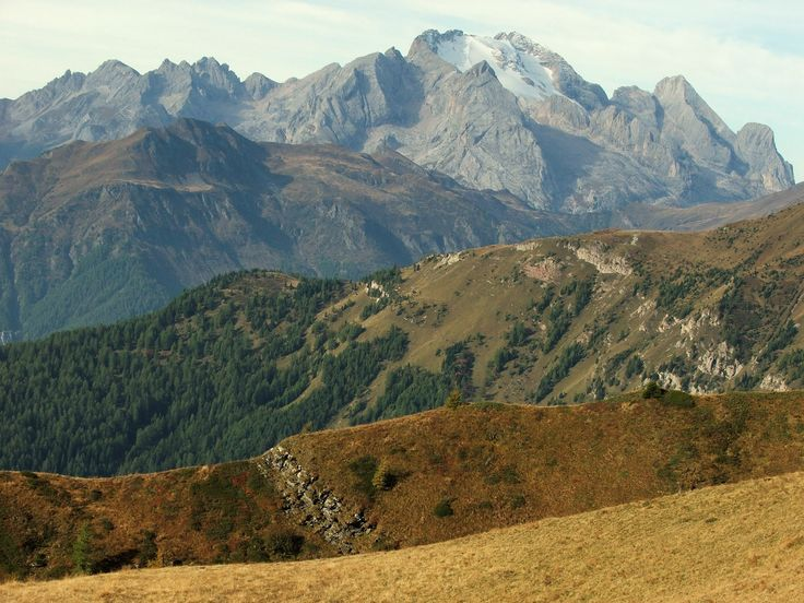 Marmolada seen from Passo Giau (Dolomites, Italy)