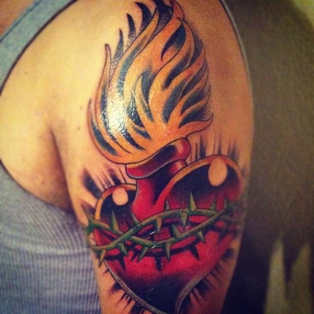 Sacred Heart Tattoo Tattoos Sacred Heart Tattoos border=