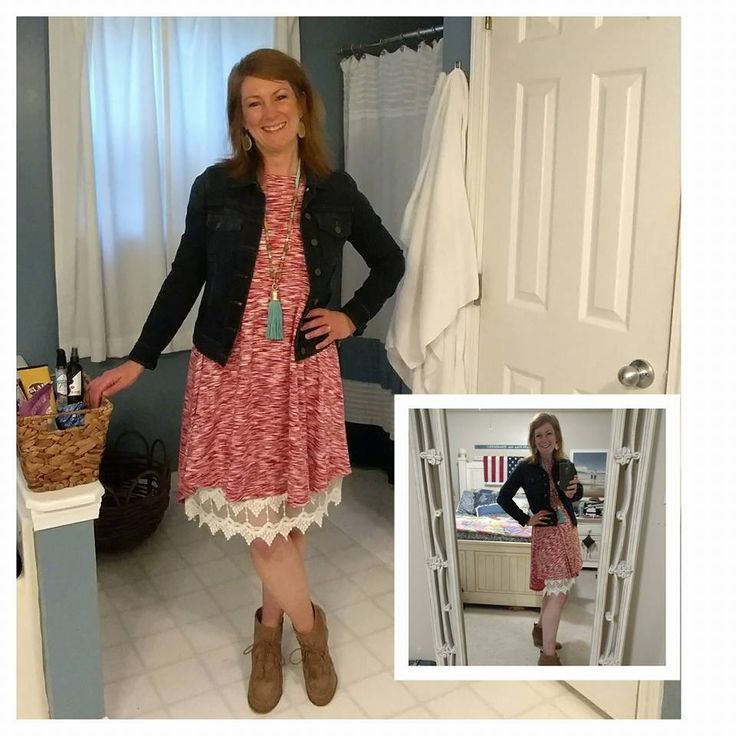 LuLaRoe Carly gets a whole new look by adding a lace skirt extender underneath!  Come shop with us: www.facebook.com/groups/lularoekateandlea
