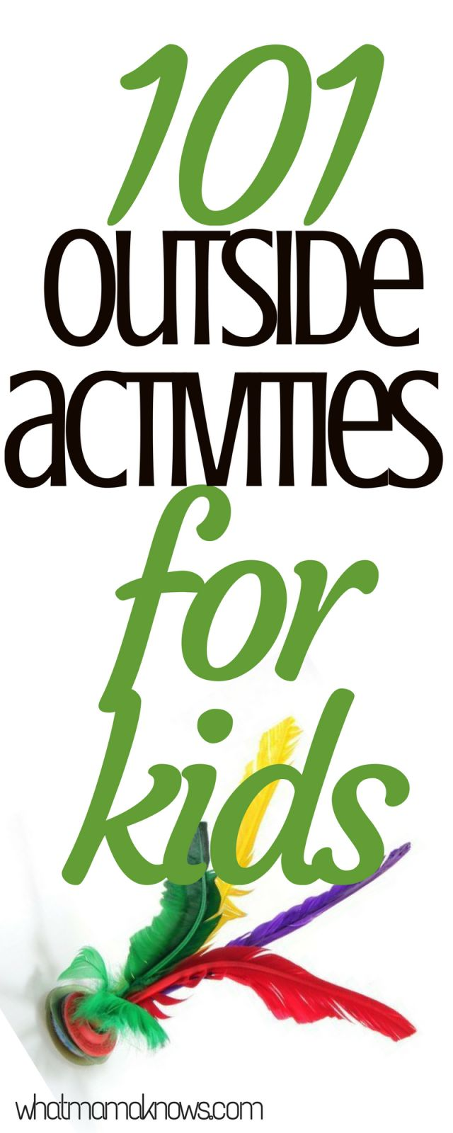 Fun games to play outside! Now spring is here, we need 101 outside activities for kids, getting some fresh air and just having a lot of fun...