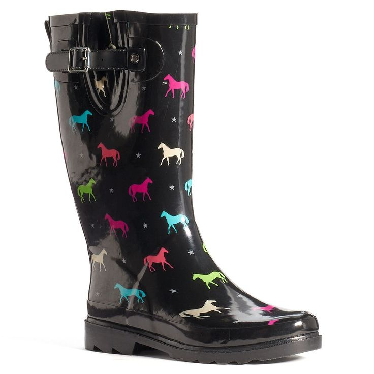 Western Chief Women's Mid-Calf Water-Resistant Rain Boots, Size: 10, Ovrfl Oth