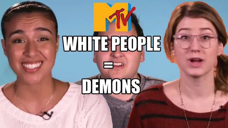 Deleted MTV white people = demons video