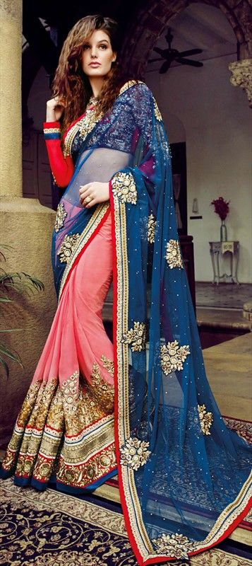ENGLISH COLORS AT YOUR WEDDING: flat 10% off + free shipping.  #saree #bride #Partywear #IndianWedding #Colorblock #bridalwear #Wedding #embroidery