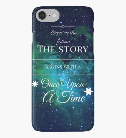Once Upon a Time- The Lunar Chronicles- Marissa Meyer- Space Vinilo o funda para iPhone