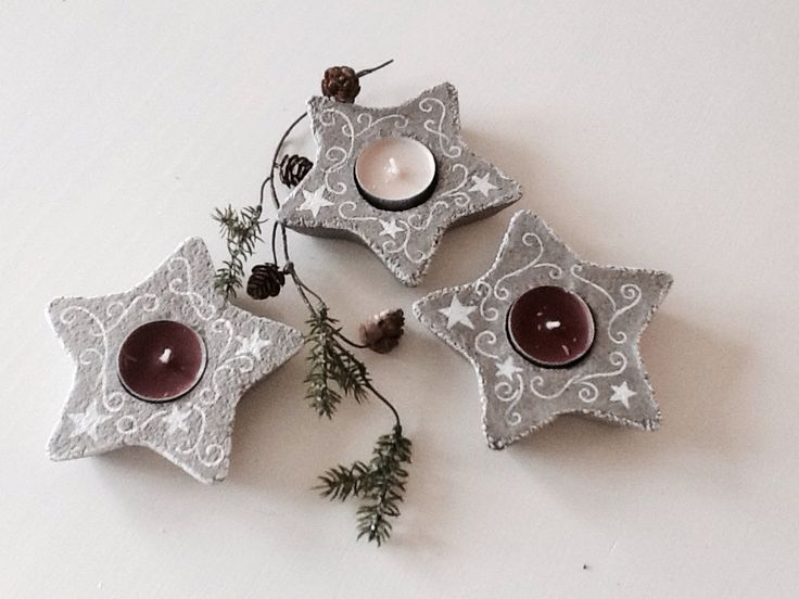 concrete christmas diy made by anne sofie beton