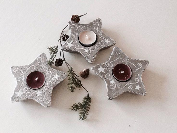 Concrete christmas diy made by Anne-Sofie