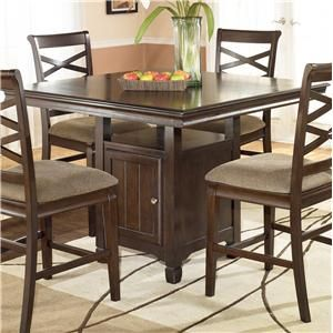 Shop For The Ashley Furniture Hayley Square Counter Height Table At AHFA