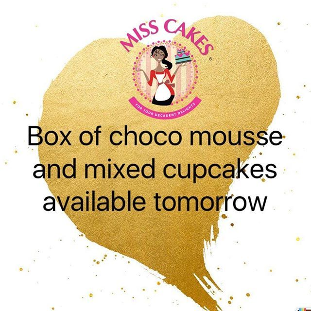 """""""Box of cupcakes in different flavours and chocolate mousse with salted caramel and chocolate cake will be available tomorrow. You can mix both mousse and cupcakes in a box. Will make a perfect surprise gift for no reason at all. Limited quantity for the fastest fingers  #misscakesng #instacake #gourmetcake #dessertcorner #cakestagram #cake #chocolate #birthdaycake #gourmet #buttercreamcakes #buttercream #brunch #events #baker #smallchops #weddingcake #instacakes #decadent #sweettreats…"""