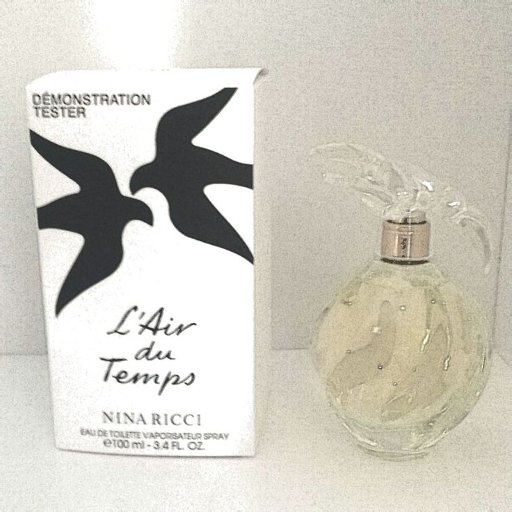 L Air Du Temps by Nina Ricci Eau De Toilette For Women 100 ML White Tester Box
