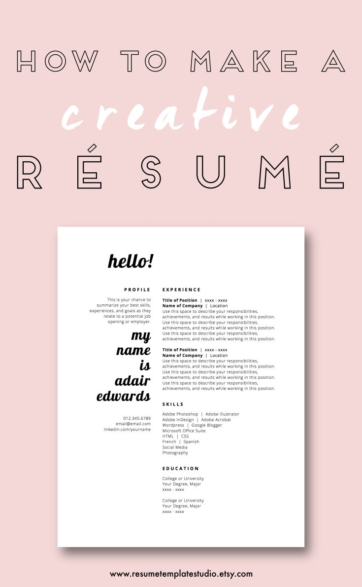 Creative Resume Templates and Resume Tips