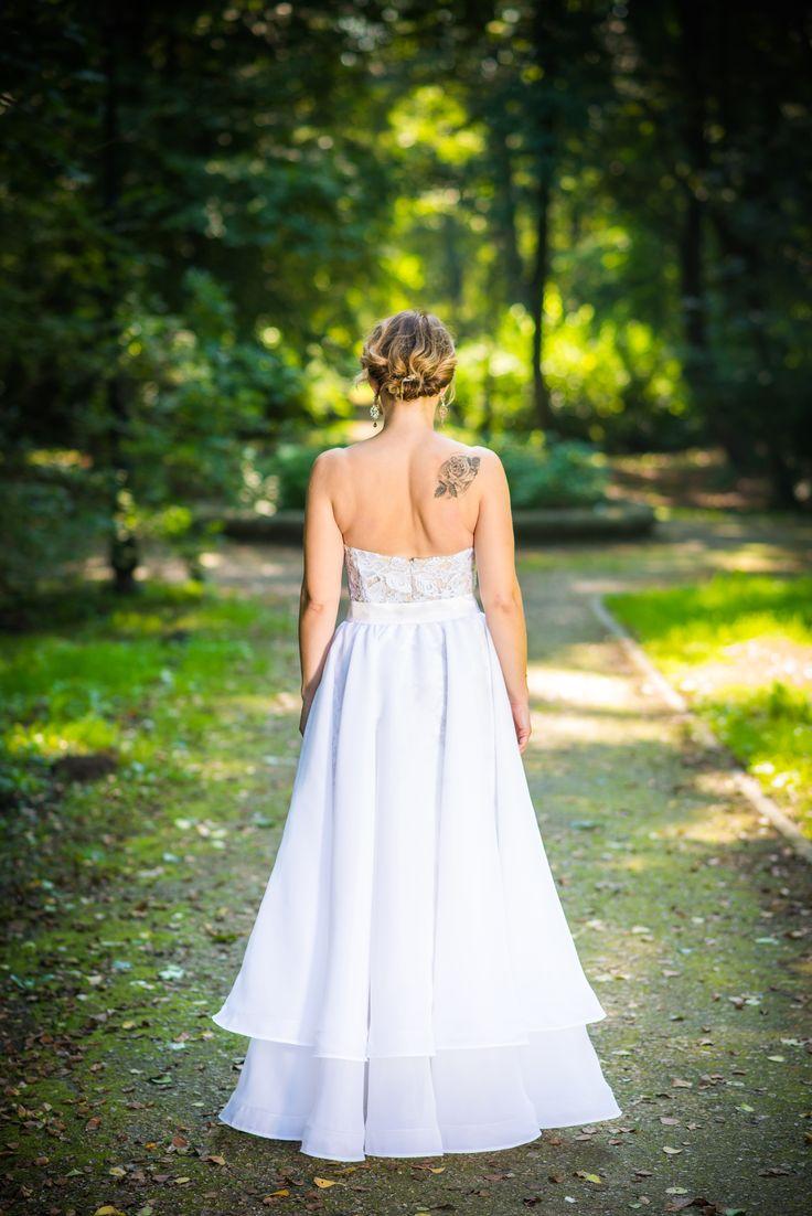 Gipiurowa biała sukienka ślubna 2017 / gipiure white wedding dress 2017