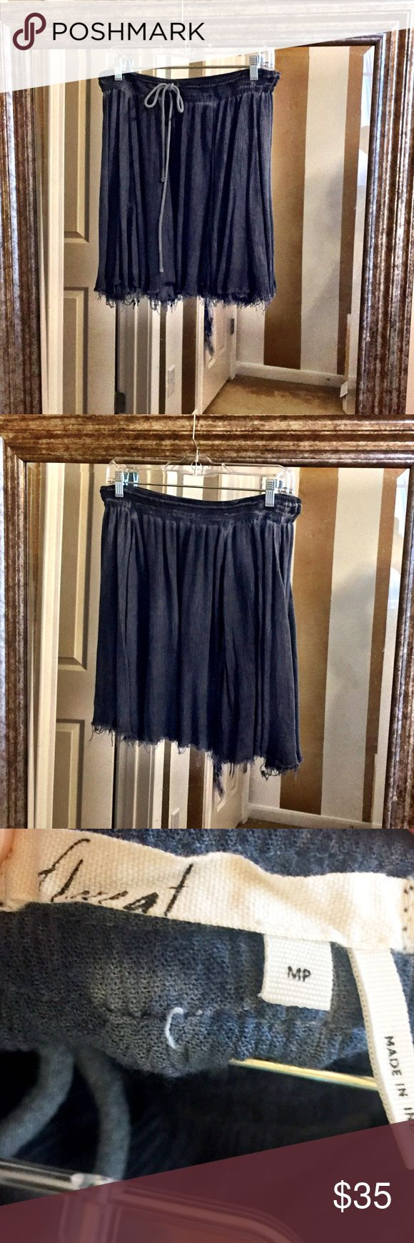 Anthropologie Perfect Denim Gauze Skater Skirt Such a cute spring skirt just too big for me bought and never got to wear can be dressed up or down and is the perfect material for warm weather NWOT Anthropologie Skirts
