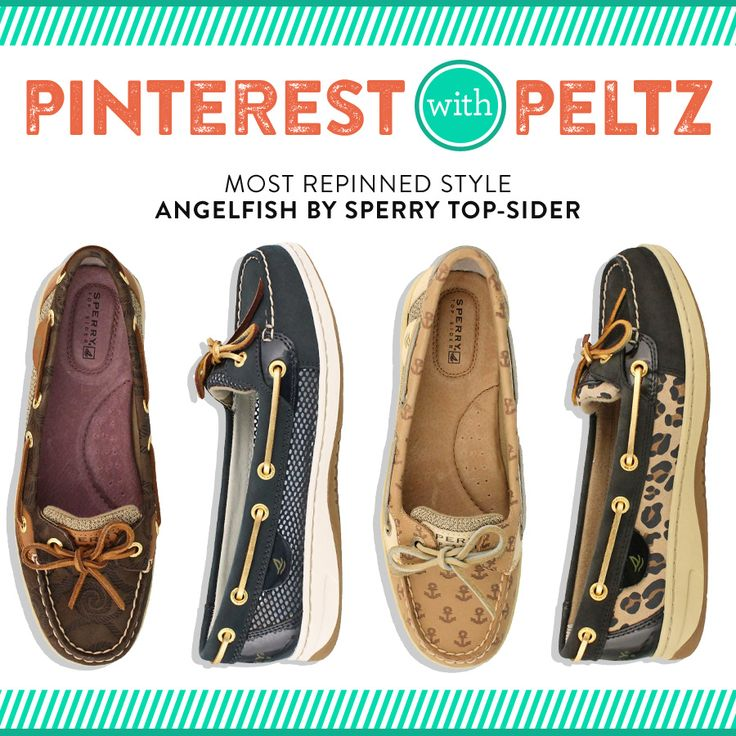 Enjoy the signature Bluefish style but with a feminine twist. The Angelfish from Sperry Top-Sider is one of our Pinterest favorites!